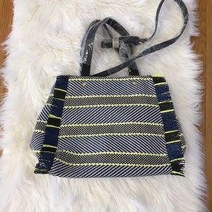 Sole Society Woven Look Fringe Handbag.